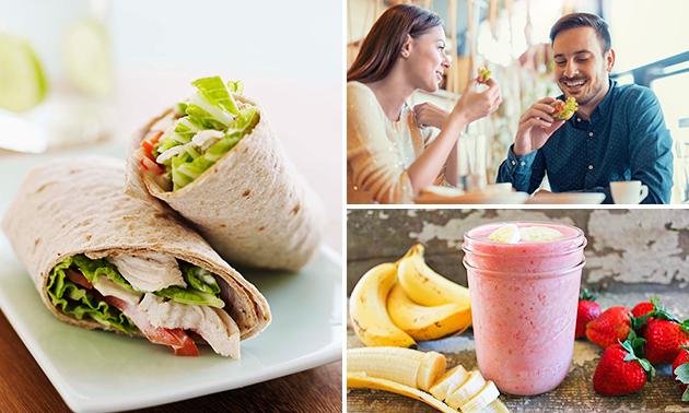 Lunch + smoothie naar keuze