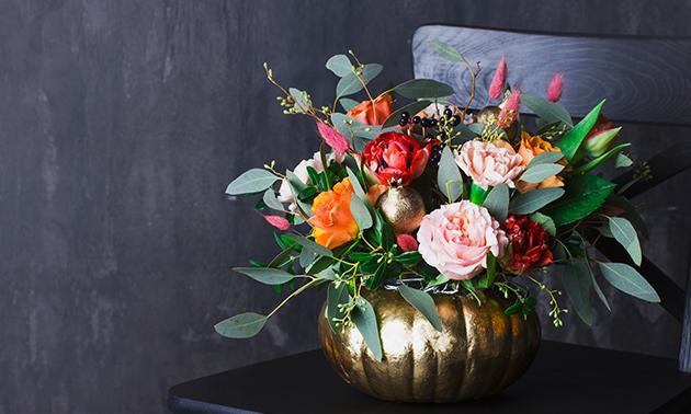 Waardebon voor bloemen en woonaccessoires