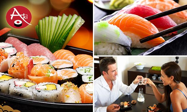 3-gangen sushidiner voor 2 bij Aki Sushi