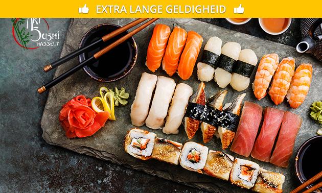 3-gangen sushidiner bij Aki Sushi in hartje Hasselt