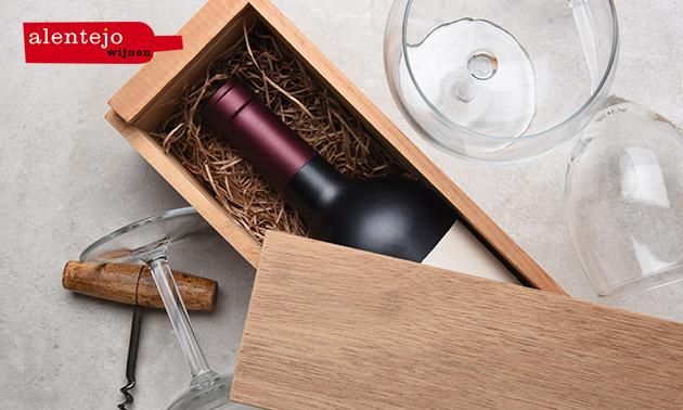 Wijnpakket met 6 flessen wijn + olijfolie