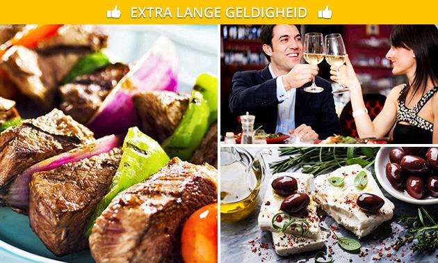 3-gangendiner óf All-You-Can-Eat Griekse tapas