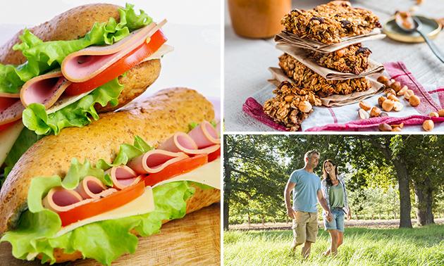 Wandelarrangement + lunchpakket