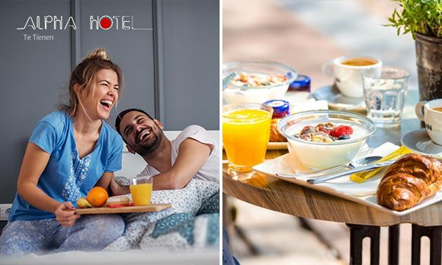 Overnachting + eventueel ontbijt voor 2 in hartje Tienen