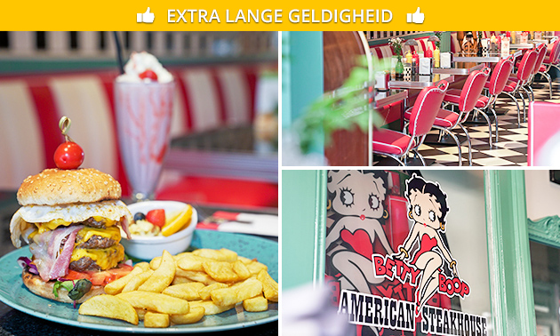 2-gangenlunch bij American Steakhouse Betty Boop