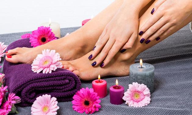 Gellak + evt. manicure- en/of pedicurebehandeling
