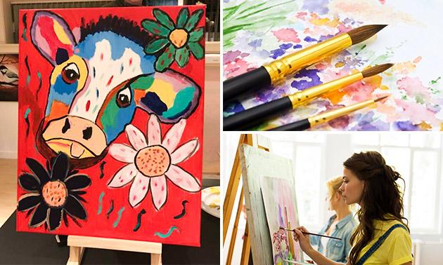 Workshop schilderen (3 uur) + drankje + hapjes