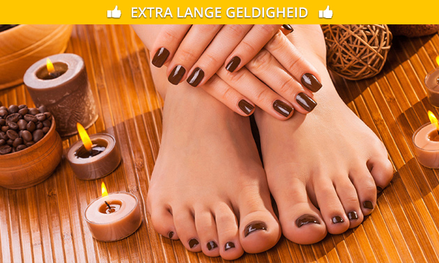 Manicure- en/of pedicurebehandeling + gellak