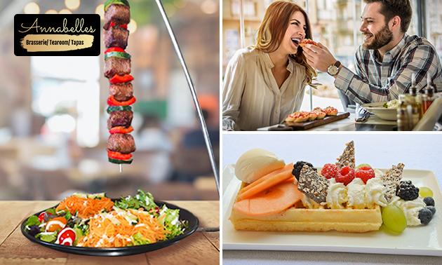 2- of 3-gangenlunch of -diner à la carte