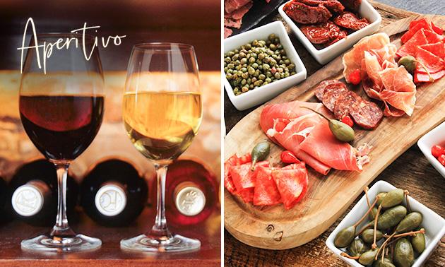 Antipasti-schotel + wijn voor 2 in hartje Genk