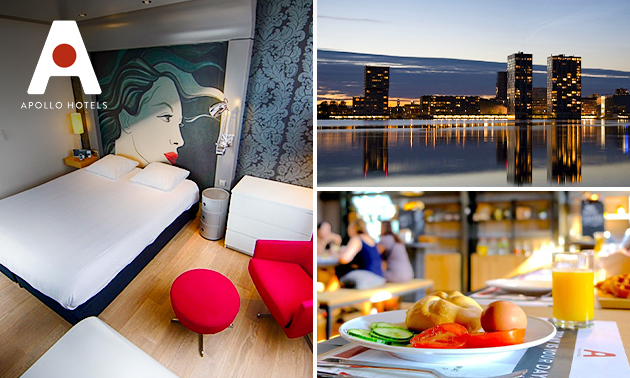 Overnachting + ontbijt voor 2 in hartje Almere