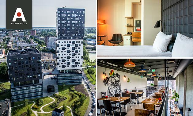 Overnachting + ontbijt voor 2 in Groningen