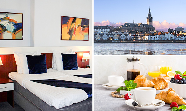 Overnachting + ontbijt voor 2 in hartje Nijmegen