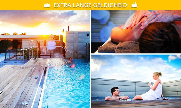 Wellness- en sauna-arrangement + glas bubbels