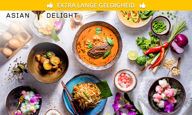 3-gangendiner à la carte bij Asian Delight