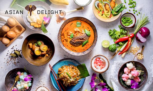 3-gangendiner à la carte bij Asian Delight