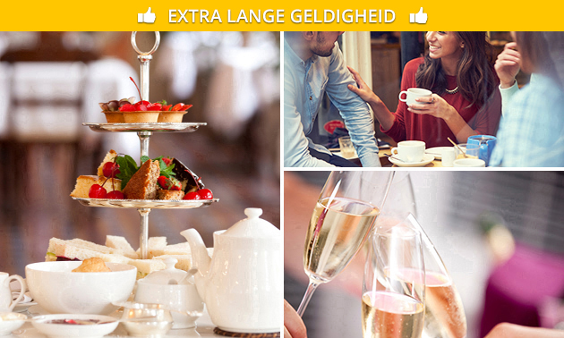 High tea + glas cava bij Atlas Foods