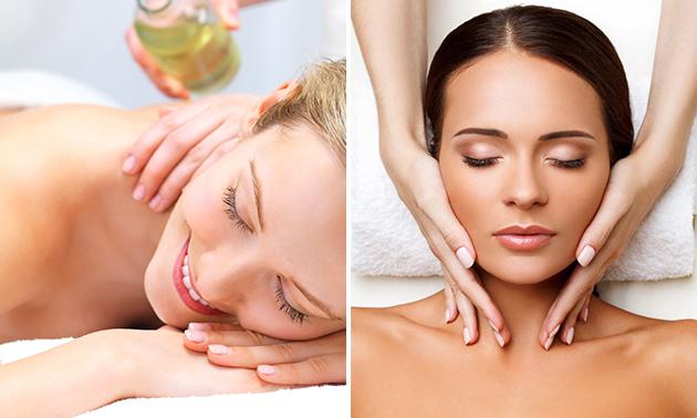 Ontspanningsmassage of gezichtsbehandeling