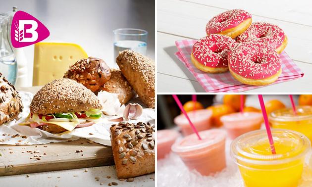 Broodje + sap + donut bij Bakker Bart Roermond Kazerneplein