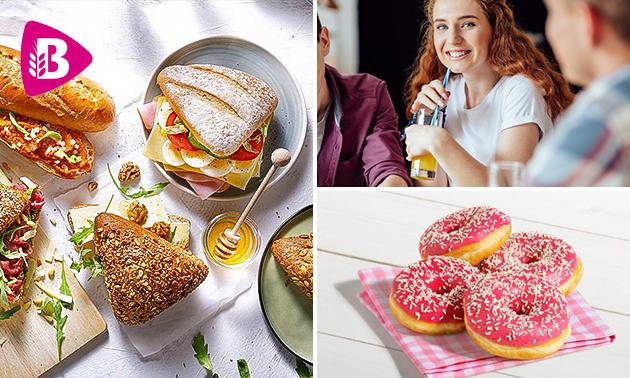Afhalen: broodje + drankje + 2 donuts bij Bakker Bart