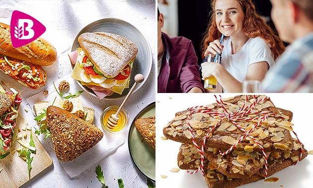 Afhalen: broodje + smoothie + koek bij Bakker Bart