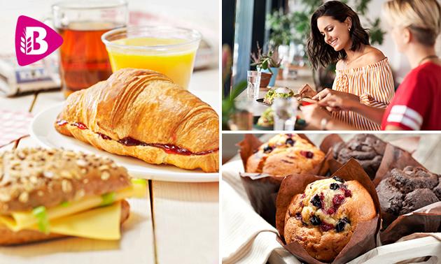 Afhalen: snack + warme drank óf ontbijt bij Bakker Bart