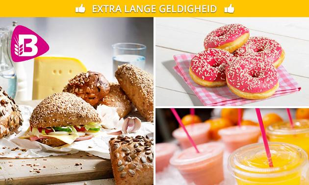 Afhalen: broodje + sap + donut bij Bakker Bart