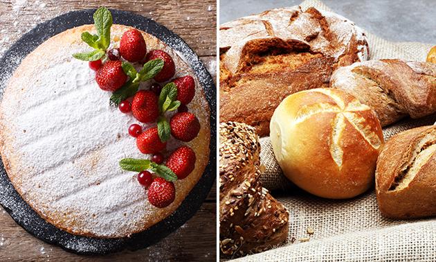 Afhalen: aardbeienvlaai + 6 broodjes