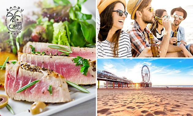 2- of 3-gangendiner of -lunch à la carte aan zee