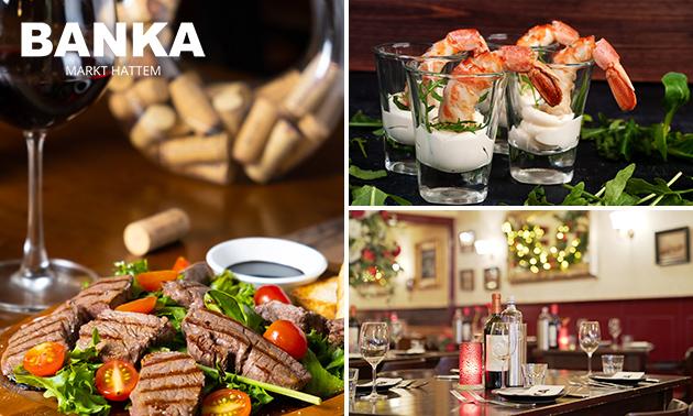 3-gangendiner à la carte bij Grand Café Banka