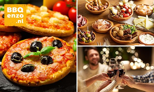 Gratis thuisbezorgd: pizzarette- of tapasarrangement