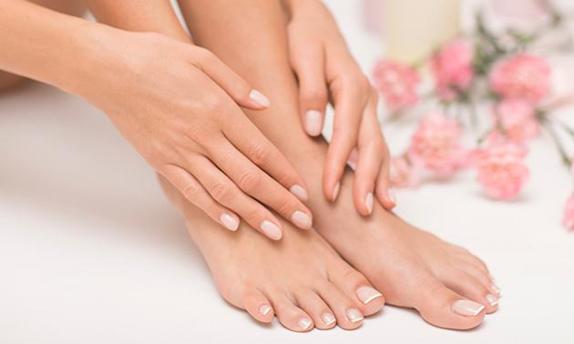 Pedicurebehandeling (60 of 75 min) + evt. manicurebehandeling