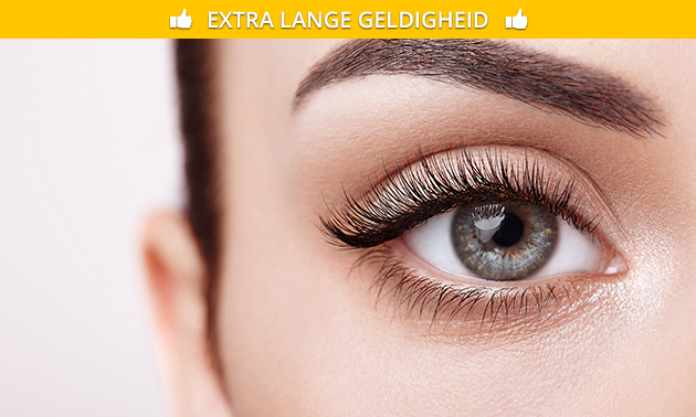 Wimperextensions of henna brows