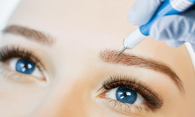 Permanente make-up wenkbrauwen + nabehandeling