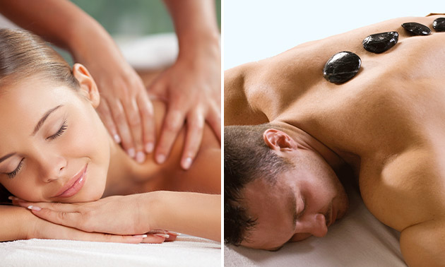 Hotstone- of ontspanningsmassage (45 of 60 min)