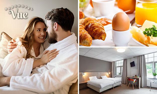 Hotelovernachting + ontbijt voor 2 bij Berghotel Vue