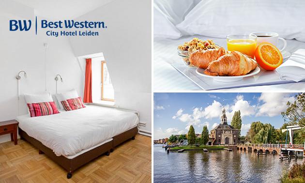 Overnachting + ontbijt voor 2 in hartje Leiden