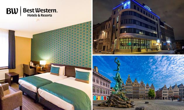 Overnachting voor 2 + ontbijt in hartje Antwerpen