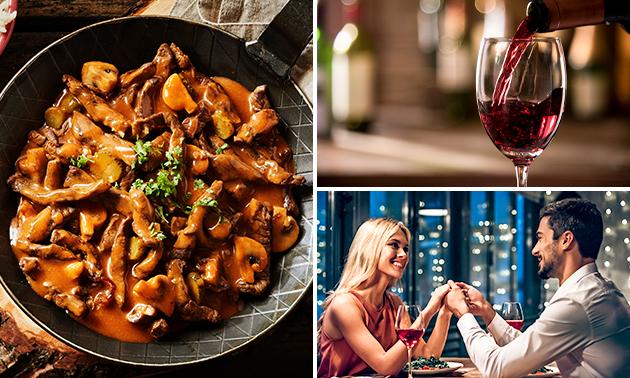 Afhalen: gastronomisch 3-gangen wilddiner + wijn