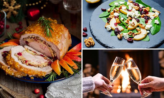Afhalen: gastronomisch 3-gangen keuzediner + fles wijn