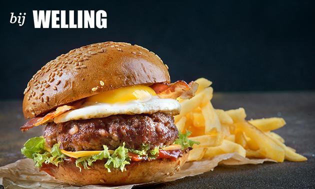 Afhalen: burger naar keuze + friet + salade bij Bij Welling