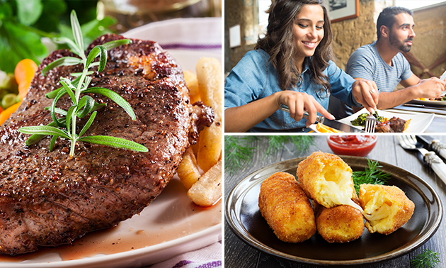 3-gangen keuzelunch of -diner bij Bistro Des Belges