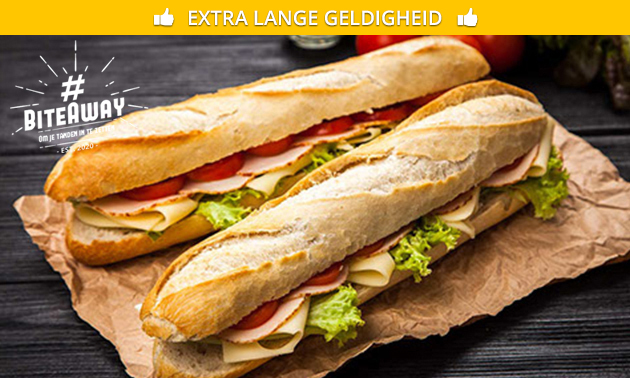 Afhalen: 2 broodjes + 2 blikjes frisdrank naar keuze