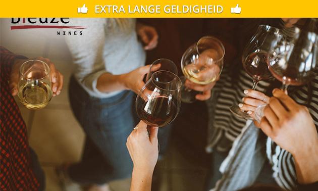 Wijnproeverij (voor 4 personen) bij jou thuis