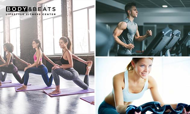 1 of 2 maanden onbeperkt fitness en groepslessen