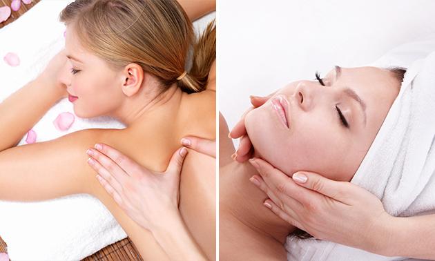Massage + evt. gelaatsverzorging