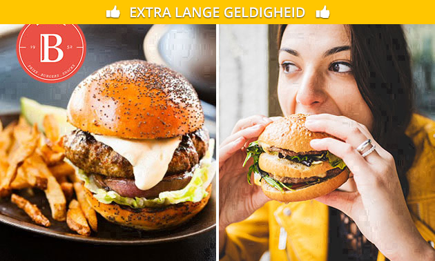 Burger + friet + drankje bij Bossuwé ´t Hoge