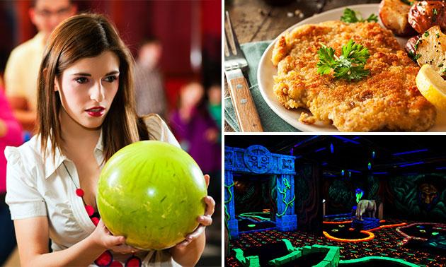 1 uur bowlen + diner + evt. glowgolf bij Bowlingcentrum Tiel