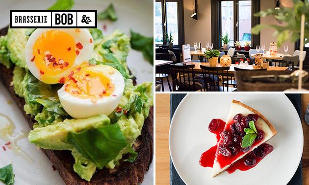 Lunchproeverij + dessert bij Brasserie BOB & Co
