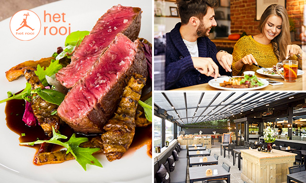 3-gangen keuzediner bij Brasserie Het Rooi